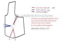 Adithis Amma Sews - Cute Confessions of a Sew Addict: Saree Blouse - Bust Darts - Measurements Blouse Tutorial, Sewing Blouses, Darts, Saree Blouse, Helping Others, Confessions, To My Daughter, Kids Outfits, Sewing Patterns