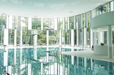 Daylit Indoor Swimming Pool in Germany is Enveloped in a Playful Undulating Glass Facade | Inhabitat - Sustainable Design Innovation, Eco Architecture, Green Building