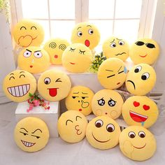 Cute, Emoji Expression, Throw Pillow, Stuffed, Plush, Sofa, Bed, Cushion