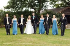 Laughton Barns wedding photography. Sussex wedding. Barn wedding. Dennison Studios Photography. Wedding inspiration. Pale blue wedding theme. Powder blue bridesmaids dresses. Blue and purple flowers.