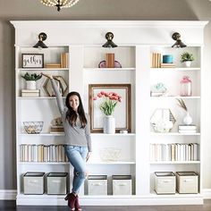 Ikea hack, billy bookcase hack, built in library, ikea custom shelving, diy Home Projects, Billy Bookcase, Billy Bookcase Hack, Bookcase, Ikea, Ikea Billy Bookcase, Home Decor, Home Diy, Ikea Furniture