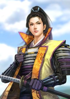 Let us know in the coments if you'd like a video dedicated to Ginchiyo in the future. Female Samurai, Female Assassin, Samurai Warrior, Character Concept, Character Art, Character Design, Fantasy Rpg, Anime Fantasy, Fantasy Characters