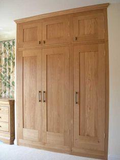 victorian built in wardrobe - Google Search Fitted Wardrobe Doors, Oak Wardrobe, Fitted Wardrobes, Built In Wardrobe, Bedroom Cupboard Designs, Bedroom Cupboards, Home Bedroom, Bedroom Decor, Master Bedroom