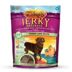 Zukes chewy lamb jerky treats. $9.99 at Pet Valu.