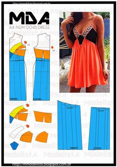 Slimming gently gathered tank dress for summer. Fashion Sewing, Diy Fashion, Ideias Fashion, Clothes Crafts, Sewing Clothes, Dress Sewing Patterns, Clothing Patterns, Costura Fashion, Modelos Fashion