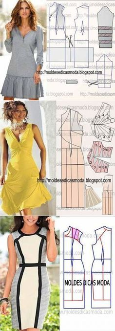 54 Ideas Sewing Dress Patterns Dressmaking For 2019 Sewing Dress, Sewing Clothes, Sewing Patterns Free, Clothing Patterns, Pattern Sewing, Trendy Dresses, Fashion Dresses, Dresses Dresses, Summer Dresses