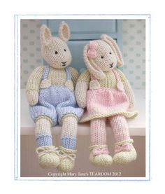 2 breien patroon Deal / LILY & SAMUEL... Baby Bunnies lente / konijnen / Pdf Toy Knitting patronen / INSTANT Download