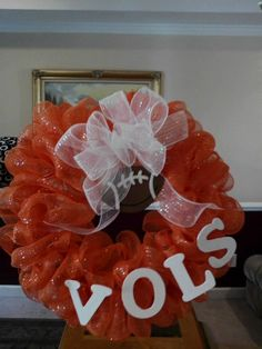 Mesh Wreath -- The Tennessee VOLS $40