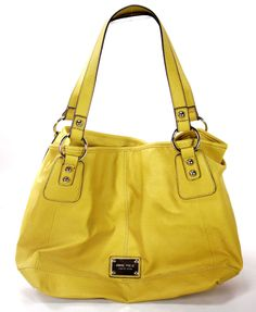 Large Yellow Tote handbag by Nine West, Ladies Purse  http://stores.ebay.com/theanothercorner/