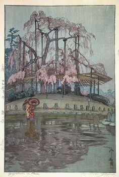 Yozakura in Rain by Hiroshi Yoshida, 1935 #Yoshida