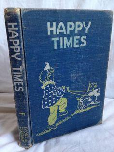 BOOK SALE Vintage Hardback Children's Book Happy by FloridaFinders, $3.00
