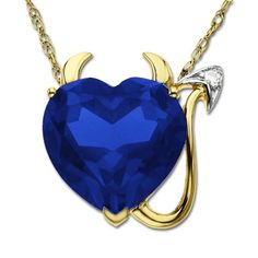XPY 14k Yellow Gold Created Sapphire and Diamond « Holiday Adds