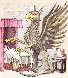 The Griffin and the Minor Canon  Frank R. Stockton ~ Maurice Sendak ~ Holt, Rinehart and Winston, 1963