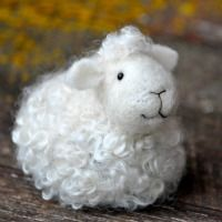 sheep felting kit - would love to make one of these cuties!