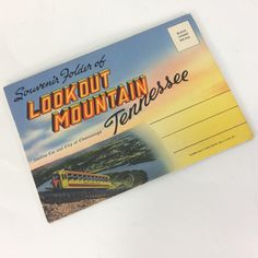 Postcard Souvenir Folder Of Lookout Mountain Tennessee Cline Co. Foldout Vintage by KoolKoolThangs on Etsy