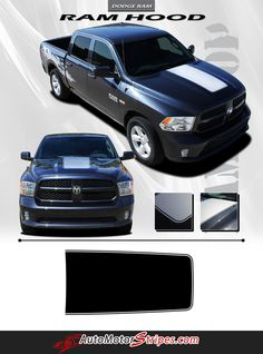 Vehicle Specific Style Dodge Ram Truck Hood Blackout Accent Vinyl Graphic Stripe Decals Year Fitment 2009 2010 2011 2012 2013 2014 2015 2016 Contents Hood Graph