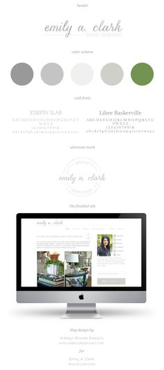Emily A. Clark.....great blog design