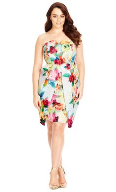fe23895527 City Chic Geo Floral Dress - Women s Plus Size Fashion City Chic - City Chic  Your