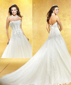 A-Line/Princess Sweetheart Cathedral  Bridal Gowns