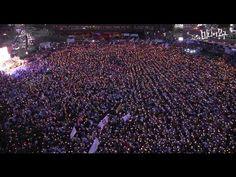 ▶ [촛불집회] 위에서 본 서울광장, 10만 소름 돋다 - YouTube