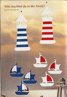 Ocean Crafts, Beach Crafts, Summer Crafts, Craft Stick Crafts, Preschool Crafts, Diy And Crafts, Paper Crafts, Diy For Kids, Crafts For Kids