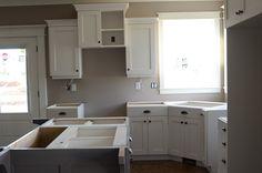 in progress kitchen with corner sink