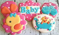 One Dozen Rubber Duck Themed Baby Shower Decorated Sugar Cookies Baby Shower Duck, Rubber Ducky Baby Shower, Baby Showers, No Bake Sugar Cookies, Sugar Cookie Frosting, Baby Shower Sweets, Baby Shower Cookies, Galletas Cookies, Cute Cookies