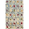 Handmade Soho Ivory/ Multi New Zealand Wool Rug (3'6 x 5'6') | Overstock.com Shopping - The Best Deals on 3x5 - 4x6 Rugs