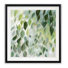 Misty Leaves -Framed Giclee Print