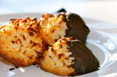 Dark Chocolate-Dipped Coconut Macaroons