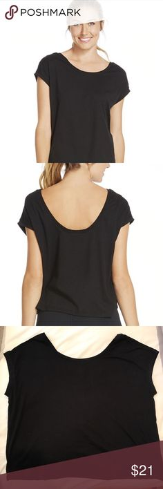 Fabletics- Black Corner T- NWT! This shirt is a staple for every closet. Never worn, new in package (I accidentally ordered two--so I'm keeping one for me and reselling this one). Super soft material with a low back that's perfect for upcoming summer days! Show off cute strapping bras, or throw a chambray shirt over it and style with shorts! It's a great T, and you will want to wear it everywhere. Size Medium. Always accepting reasonable offers. Fabletics Tops Tees - Short Sleeve