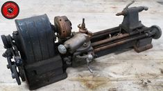 """This tool restoration focused on a Craftsman """"Model metal-cutting lathe from The lathe was giving to me by a fan about a year ago. Tools And Toys, Diy Tools, Garden Tractor Attachments, Small Lathe, Model Maker, Hard Metal, Toyota Tacoma, Paint Splatter, Wood Turning"""