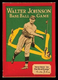 Walter Johnson Baseball game - Baseball toy history #Baseball #Vintage