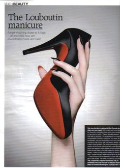 red bottom manicures.