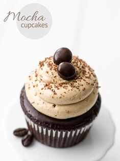 Another New Year's resolution of ours is to enjoy life's treats! First on the list, Mocha Cupcakes. Click here for the recipe. #Coffee #Recipes #MrCoffee #Cupcakes #Mocha