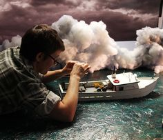 Behind the scenes of a Lori Nix and Kathleen Gerber diorama, via.