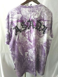 AsadA t shirt purple studded tattoo 2xl  $165 new with tags #asada #EmbellishedTee