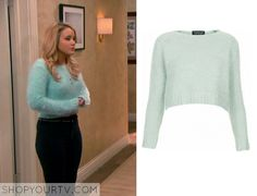 Melissa & Joey: Season 4 Episode 11 Lennox's Green Fluffy Sweater