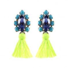 Neon Tassel Earrings $96