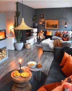 41 Inspiring Living Room Color Schemes Ideas Will Make Space Beautiful - Home Decor Home Living Room, Apartment Living, Interior Design Living Room, Living Room Designs, Apartment Design, Autumn Decor Living Room, Autumn Room, Bohemian Living Rooms, Living Walls