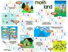 Greatest Common Factor, Least Common Multiple Board Game. Includes question cards and game board. Math 5, Fun Math, Teaching Math, Math Class, Teaching Ideas, Math For 6th Graders, Lcm And Gcf, Least Common Multiple, Greatest Common Factors