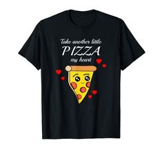 Pizza Love Heart Funny Valentines Day Food Gift T-Shirt. created by Scar Design. #pizzashirt #tshirt #shirt #funnyshirt #cuteshirt #tees #valentinesday #valentinesdaygift #graphictee #tshirtdesign #amazon #clothing #funnyshirt