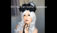 This Gothic Headdress is a two part head piece: one part is Gothic Crown made from thick wire and the other part is a gothic flower head wreath made from bla...