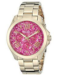 Fossil Women's AM4595 Cecile Multifunction Stainless Steel Watch - Gold Tone with Pave Glitz Dial