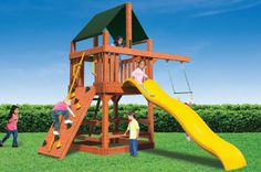 Classic Fort Jr Wooden Play Set - Perfect for Small Yards