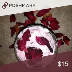 Organic rose body whip Smells exactly like roses it's beautiful  I can do Any scents to your request  Order this and it comes with a lip scrub which tastes so good you can eat! I can do 8oz 12 oz 16 oz or larger  Just ask   Made with gloves and extreme sanitary conditions as I'm a clean freak Anyway   #lush #thebodyshop #lotion #homemade #pink #Victoria'sSecret homemade  Makeup