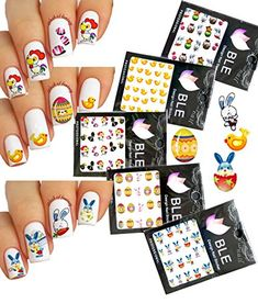 Festive  Fun Water Nail Tattoo Transfer Decals LDI Rooster Egg Bunny  Pack of 5 *** Click image for more details. Note:It is Affiliate Link to Amazon.