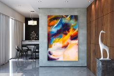 Items similar to Large Modern Wall Art Painting,Large Abstract wall art,texture art painting,colorful abstract,office wall art on Etsy Large Abstract Wall Art, Large Canvas Art, Large Painting, Gold Canvas, Textured Painting, Painting Canvas, Abstract Paintings, Canvas Canvas, Acrylic Canvas