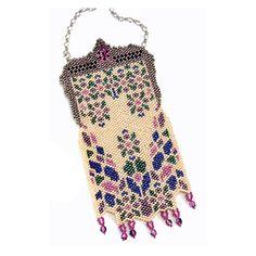 Vintage Look Mini Purse Bead Pattern | Bead-Patterns.com