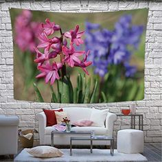 Those who truly love floral wall art understand the appeal of Hyacinth wall decor. It is easy to hang and can work in many different rooms. Hitecera Spring and Beautifully Blooming Flowers Hyacinth Wall Hanging